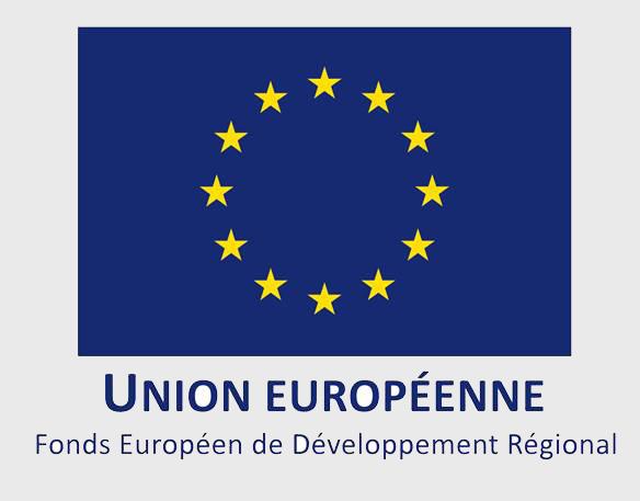 """Logo """"Union Européen"""" Fonds Européen de Développement Régional"""
